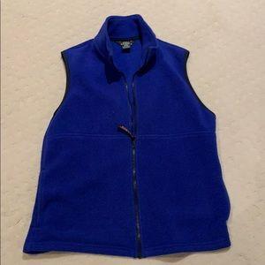 LL Bean ladies fleece vest